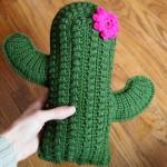 textured cactus pillow