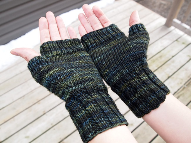 fingerless mitts malabrigo